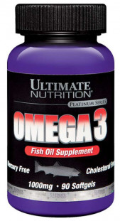Ultimate Nutrition Omega-3  1000 мг  (90 кап)